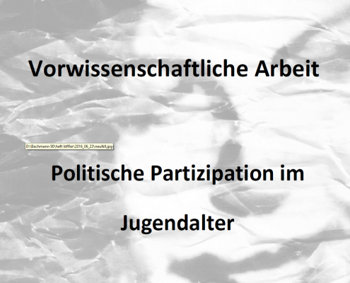 VWA Partizipation im Jugendalter