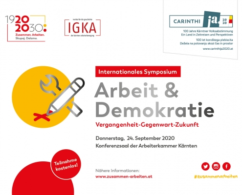 Symposium Arbeit u Demokratie 24 Sept 2020 AK Kärnten